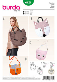 Burda mønster: Bags, Kat, Ræv