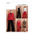 Vogue 9351. Jakke, Top, kjole, bukser, Vogue Wardrobe.