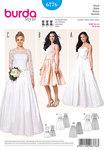 Burda 6776. Corset kjole, wedding kjole, blonde overdel, underskirt fra tyll.