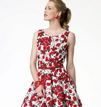 Retrokjole. Butterick 5748.