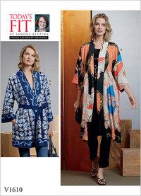 Kimono og bælte, Sandra Betzina. Vogue 1610.