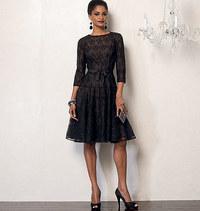 Kjole og bluseoverdel. Vogue 8943.