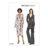 Top, kjole, bukser. Vogue 9350.