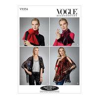 Tørkjæde, Sjal og Kimono, Elizabeth Gillett NYC. Vogue 9354.