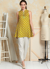 Tunika og kjole, Marcy Tilton. Vogue 9376.