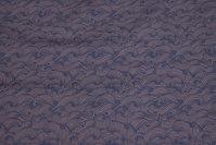Diskret mønstret bomuld i brun og marine