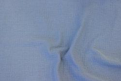 Dobbeltvævet bomuldscrepe (gauze) i musegrå