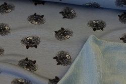 Dueblå isoli med 5 cm dyrehoveder