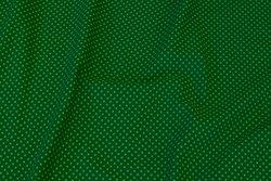 Græsgrøn bomuldsjersey med lysegrønne miniprikker