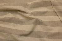 Hørfarvet polyester og hør med 5 cm brede tværstriber
