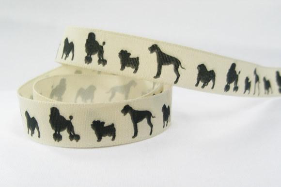 Hunde på bånd, 1,5cm bred