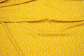 Lightweight, yellow viscose with 15 mm birds.