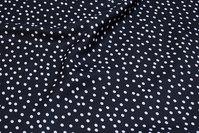 Let, sort bluse-polyester med 5 mm hvide prikker