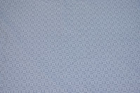 Lysegrå bomuld med lille hvidt mønster