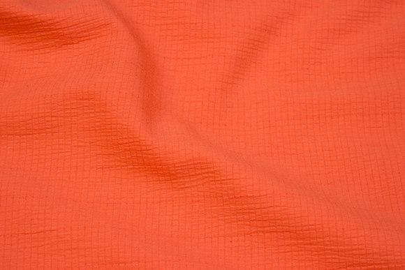 Orange bomuld og polyester crepe med let stræk