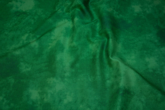 Patchwork-bomuld i græsgrøn batik