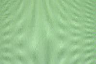 Smalstribet grøn og hvid bomuld
