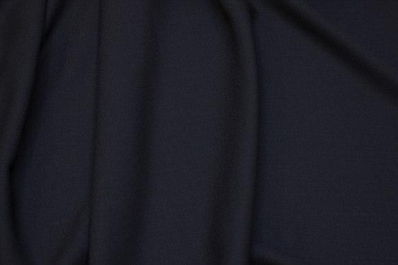 Sort uld og polyester georgette