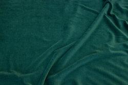 Strækvelour i lys flaskegrøn