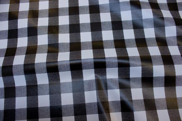 Voksdug med sort og hvide 3 cm tern