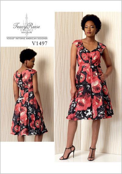 Plisseret kjole med sweetheart udskæring - Tracy Reese