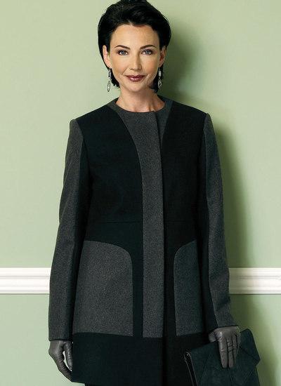 StandKrave eller kraveløs frakke med paneler