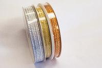3mm sølv, guld eller kobber bånd - 10 meter