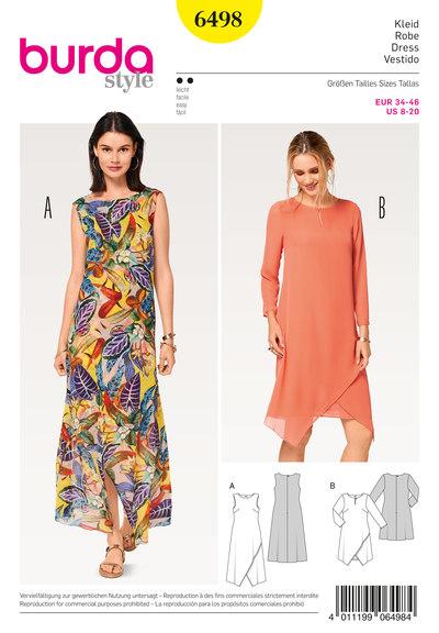 Kjole, to-lags, slå-om udseende