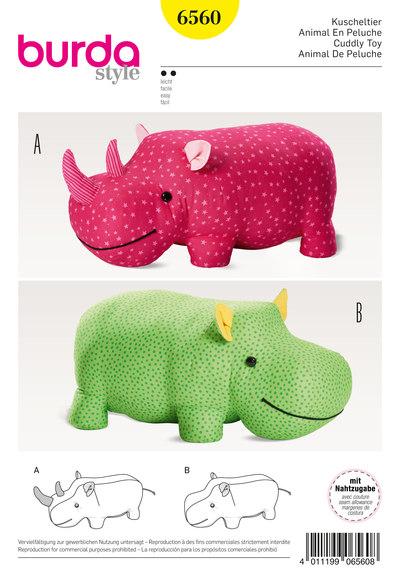 Udstoppede dyr, flodhest, næsehorn