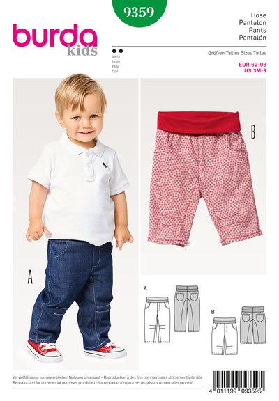 Bukser og bukser med bærestykke, har lommer, elastisk talje