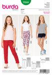 Burda 9368. Bukser, jeans, shorts, trekvart-bukser til børn.