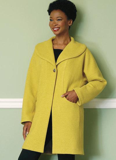Sjalskrave-frakke med lommer