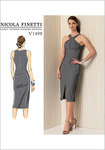 Kjole med kryds-halsudskæring - Nicola Finetti