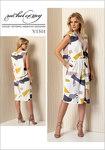 Vogue 1501. Plisseret kjole med samling foran - Rachel Comey.