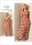 Vogue 1502. Kjole med v-udskæring i ryg og detaljer -Tracy Reese.