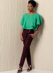 Top med lag, knude bagpå, bukser - Rachel Comey
