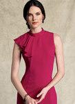 Kjole med asymmetrisk drapering - Badgley Mischka