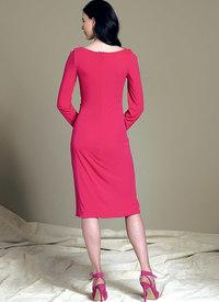 Kjole med slå-om-effekt - Bellville Sassoon. Vogue 1514.