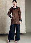 Vogue 9217. Vendbar jakke og top, delfin-søm bukser - Kathryn Brenne.