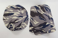 Camouflage lapper grå ca 9x11cm