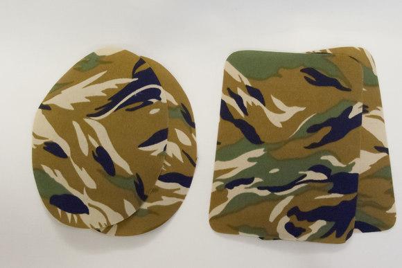 Camouflage lapper grøn ca 9x11cm