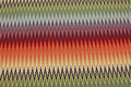 Flot møbelvare med tvær-zigzagstriber i multifarver.