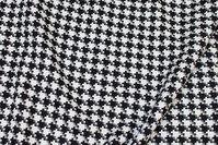 Flot sort og hvid hanefjeds- tweed