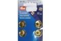 Guldfarvede tryklåse 17 mm.