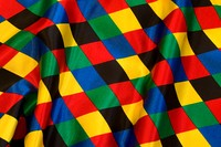 Harlekinmønstret satin 6 cm tern i stærke farver - også lilla