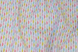 Hvid bomuld med lille bølgemønster