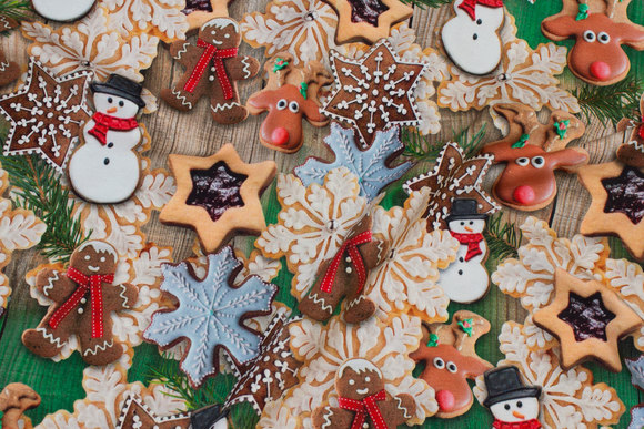 Julebomuldsjersey med fine julekager