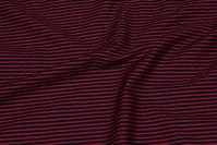 Længdestribet bomuld i bordeaux og sort
