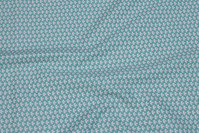 Mintgrøn bomuld med lille hvidt mønster