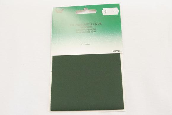 Mørk grøn nylon reparationslap 10 x 20 cm